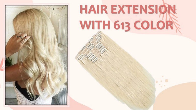 Human Hair Extension in 613 color