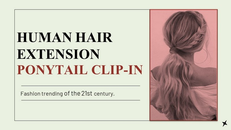 Human Hair Extension Ponytail Clip-in