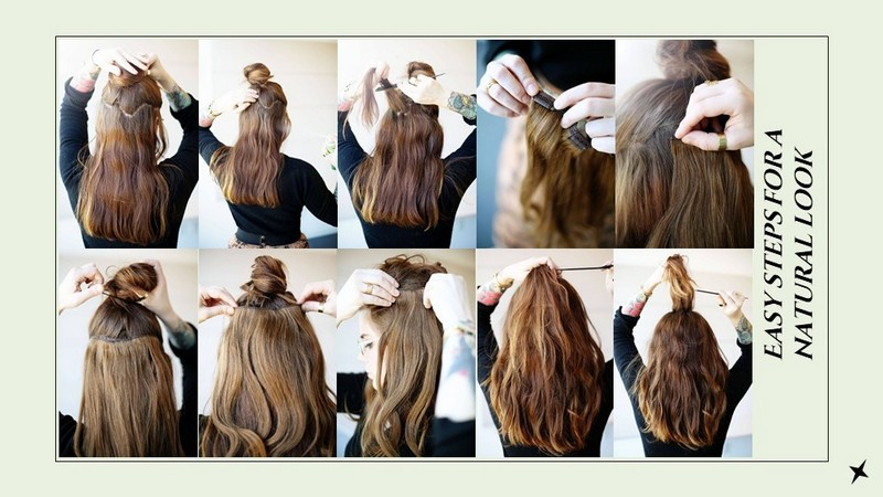 Easy way to wear Human Hair Extension Ponytail Clip-in at home