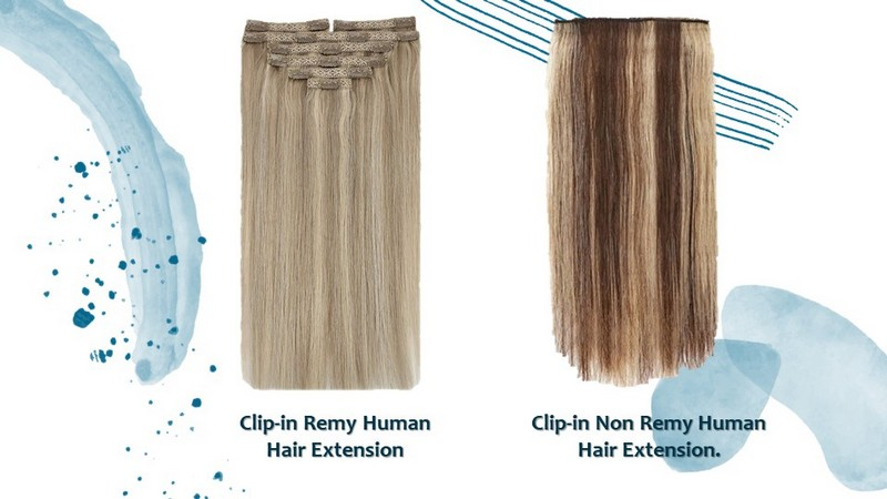Two types of Clip-in Human Hair Extension