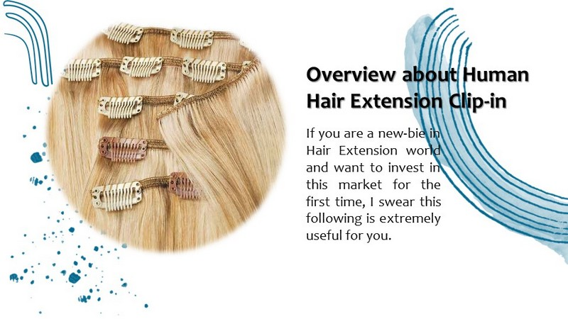 Overview about Human Hair Extension Clip-in